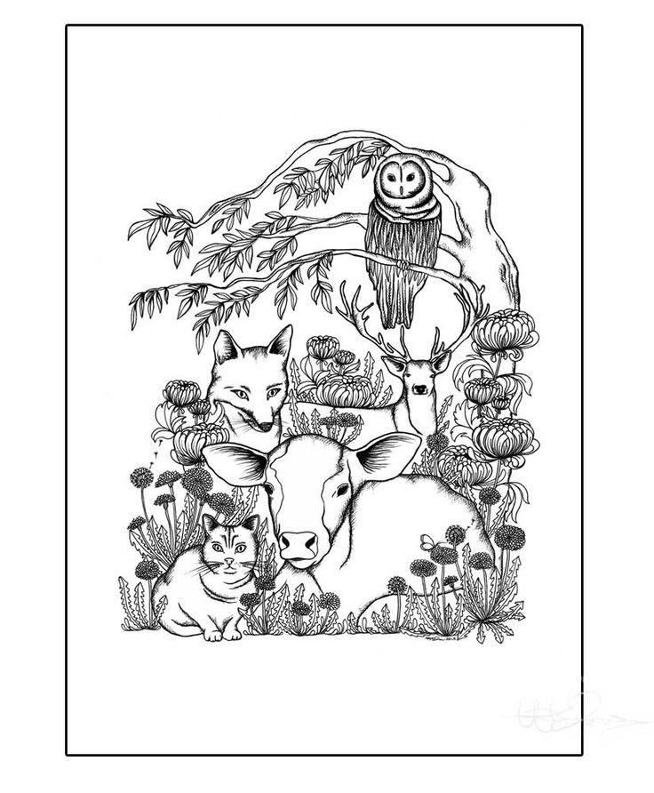 The Animals Printed illustration