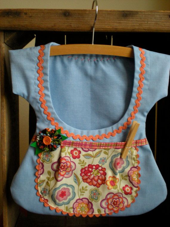 Sweet One of a Kind Double Pocket Clothespin Bag by sunshineidaho, $18.00