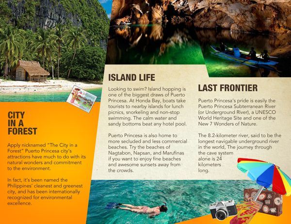Puerto Princesa Travel Brochure by Iel Caseda, via Behance - travel brochure