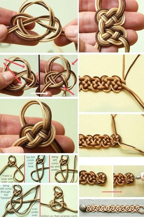 браслеты из шнурков своими руками фото