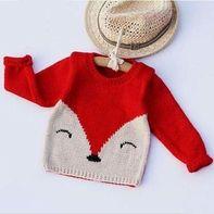 儿童狐狸毛衣(2-1)婴幼儿棒针毛衣零基础视频教程