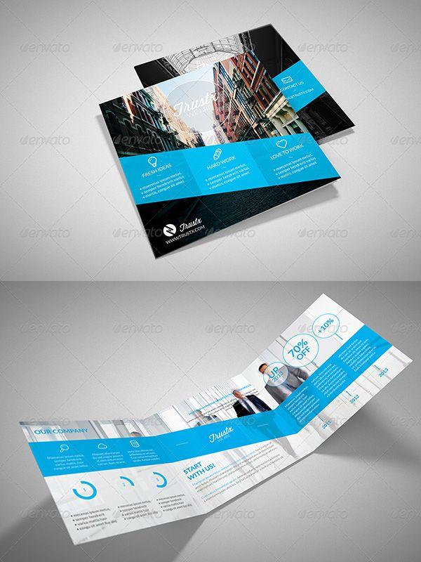 Square Brochure Template - #brochure #template #templates #design #graphic #modern