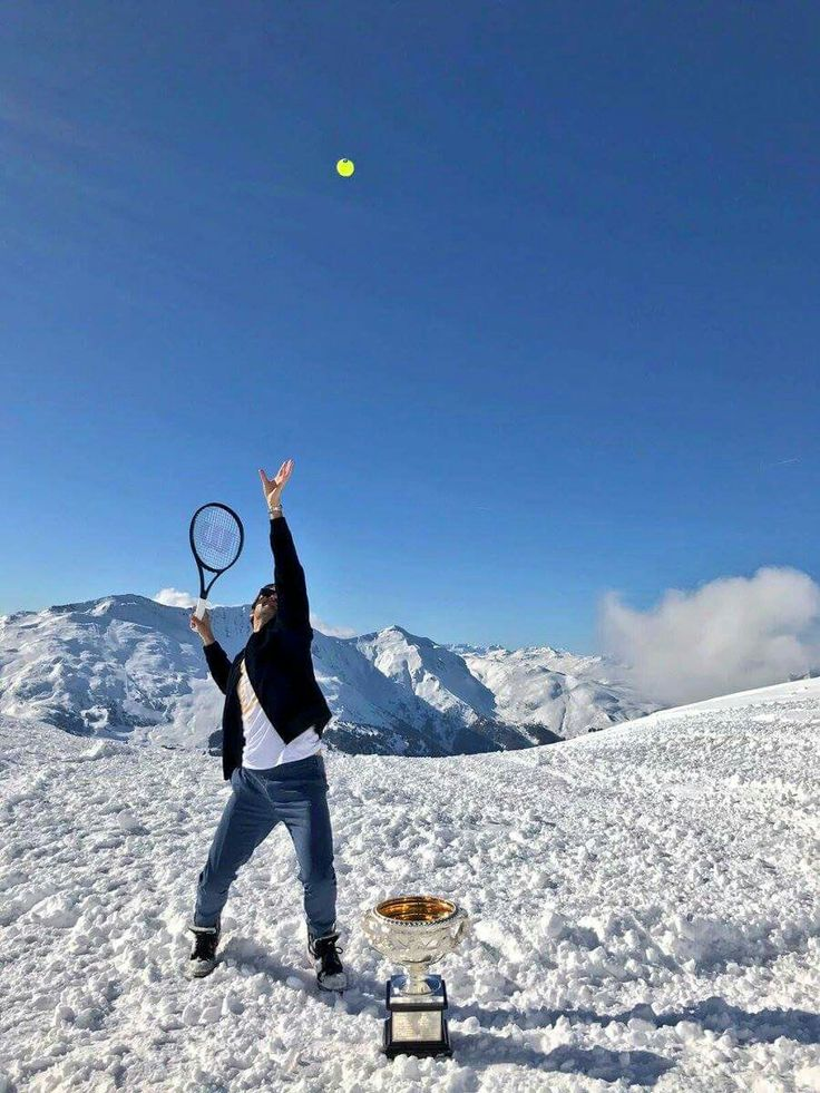 Roger Federer in Switzerland February 2017