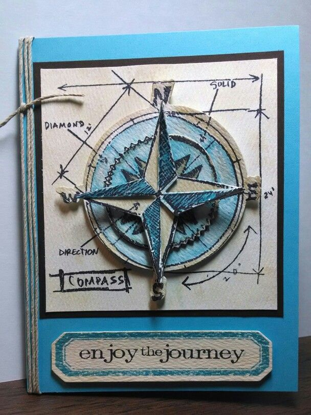 26 best Compass DIY images on Pinterest | Cards, Altered art and Compass