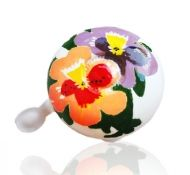Spring fresh! Pansies bike bell.