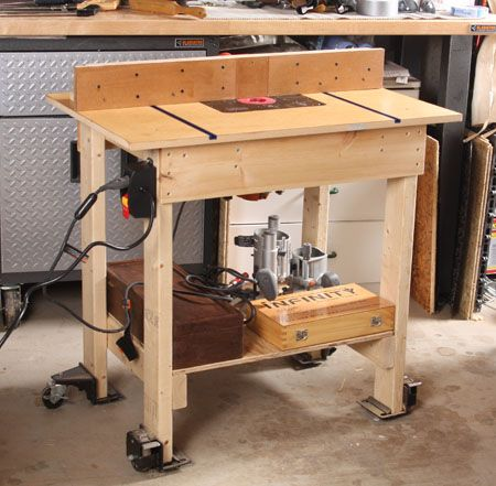 Its big, and it moves. My new router table is 35 in. wide by 23 in. deep by 33 1/2 in. tall.
