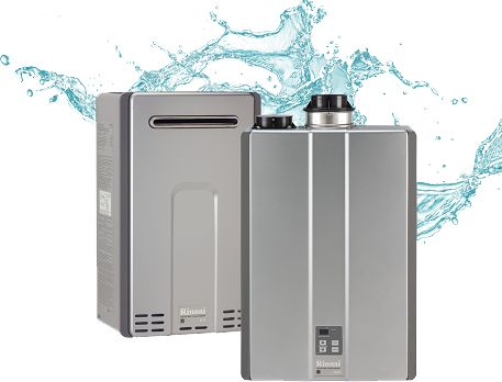 Tankless Water Heater by Rinnai that delivers an endless supply of hot water, but takes up less space to leave more for the living areas.
