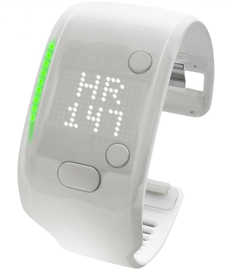The Adidas MiCoach FitSmart band. The device looks like a rubber-clad fitness band (in both black and white), with LED display and heart rate monitor. It would follow on from the MiCoach SmartRun watch, which features GPS and heart rate tracking too, and comes with the same watch-style band.