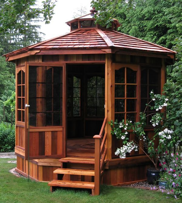 minimalist hardtop style enclosed gazebo ideas