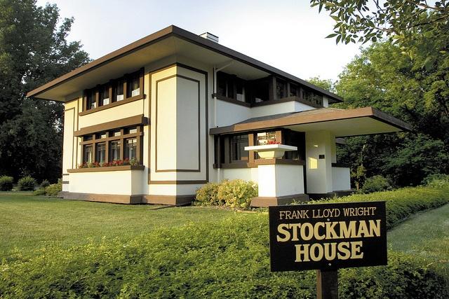 Frank lloyd wright stockman house mason city frank for Frank lloyd wright house piani gratuiti
