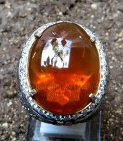 cincin fire opal ornage