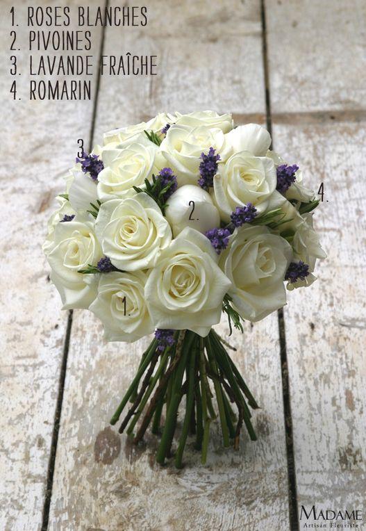 Bouquet de mariée {pivoines et lavande} | la mariee aux pieds nus