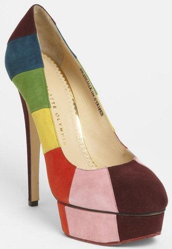 Charlotte Olympia Rainbow Pump USD1095: Rainbow Pump, High School Graduation, Rainbow Shoes, Olympia Rainbow, Colorful Shoes, Shoes Shoes, High Schools, Clothes Outfits Shoes