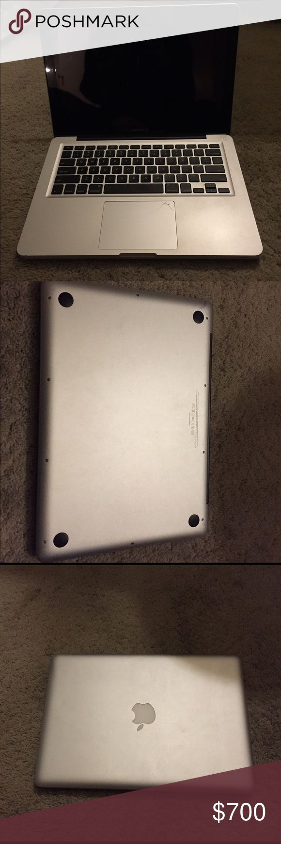 2011 MacBook Pro 2011 MacBook Pro, cracked mousepad, good condition apple Other