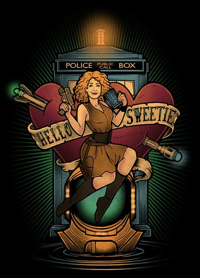 """Hello Sweetie"" Art Print by Megan Lara... River Song. Doctor Who"