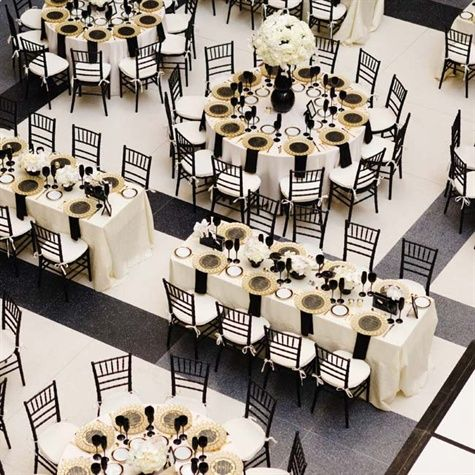 1000 ideas about white tables on pinterest table and for Black and white reception tables
