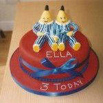 Bananas in pyjamas birthday cake