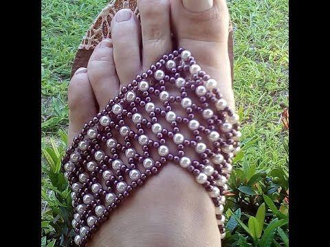 Sandalia Customizada em florzinhas de Perolas, Muito fácil de fazer! Por Maguida Silva - YouTube