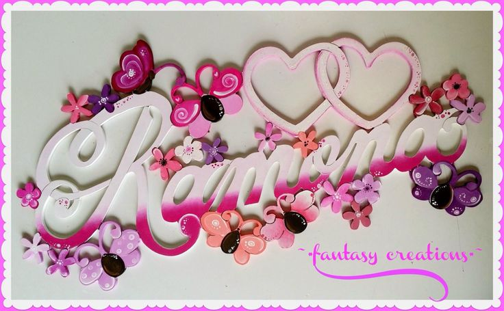 #butterflires #flowers #name #sign #handcrafted