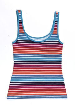 Womens Vest Hot Stripe. 'Softer, extra luxurious and supple fairtrade & organic fabric - 95% organic cotton, 5% elastane fitted shape to keep you warm and extra comfy Our vests have never loved you as much. Great for sleeping with or taking out on a cold day, the perfect partner to a pair of our joyful undies!' #fairtrade #underwear #vest
