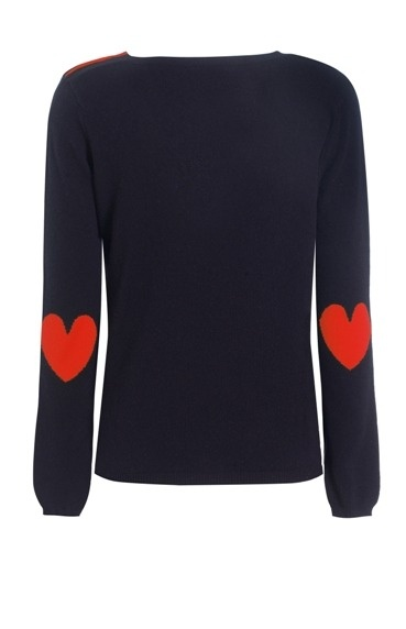 Chinti and Parker - Heart Elbow Patch Sweater