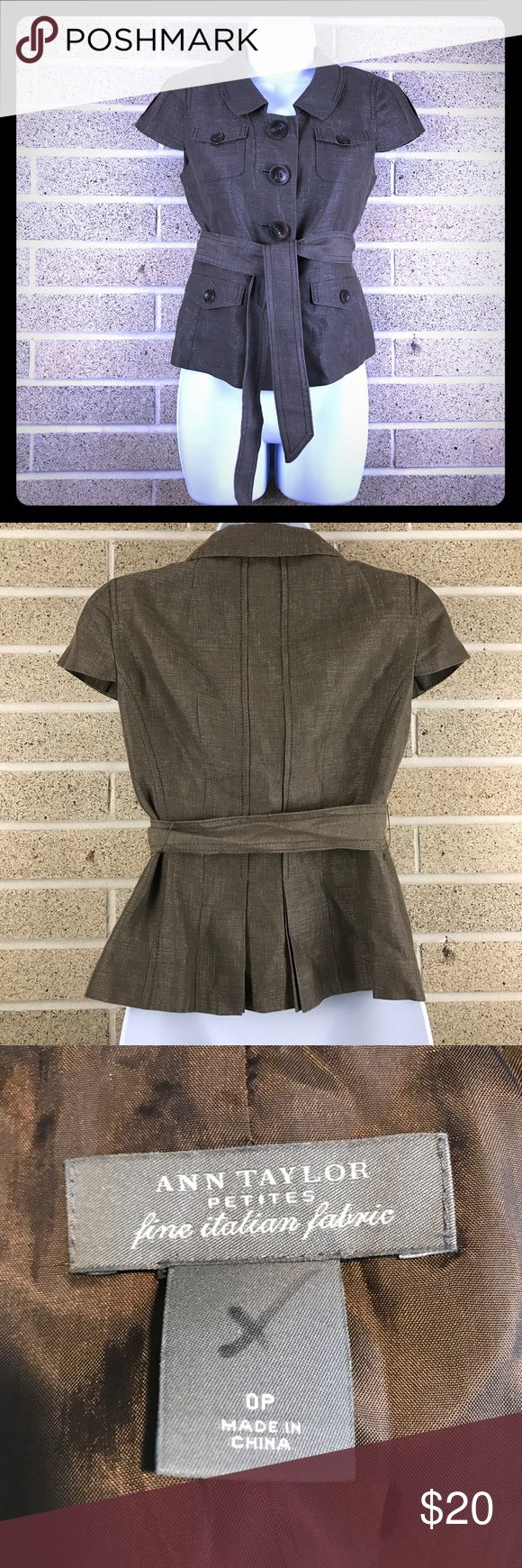 Ann Taylor petites blazer jacket Lovely short sleeved blazer in great condition. Ann Taylor Jackets & Coats Blazers