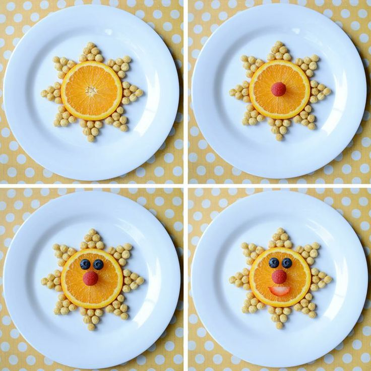 Show your little sunshine how fun snacktime can be with a little food art!