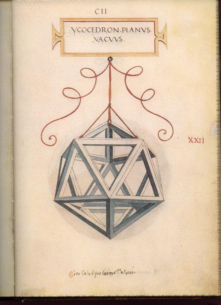 Leonardo da Vinci's Geometric Sketches - Icosahedron   Mathematical Association of America