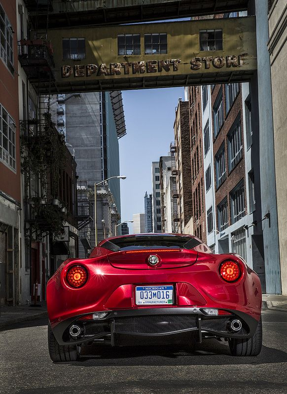 2015 Alfa Romeo 4C.. Forget about high quality and premium feel, this mid-engined rear-driven manual-steered Alfa is pure fun. Its Italian flare is undeniably attractive.