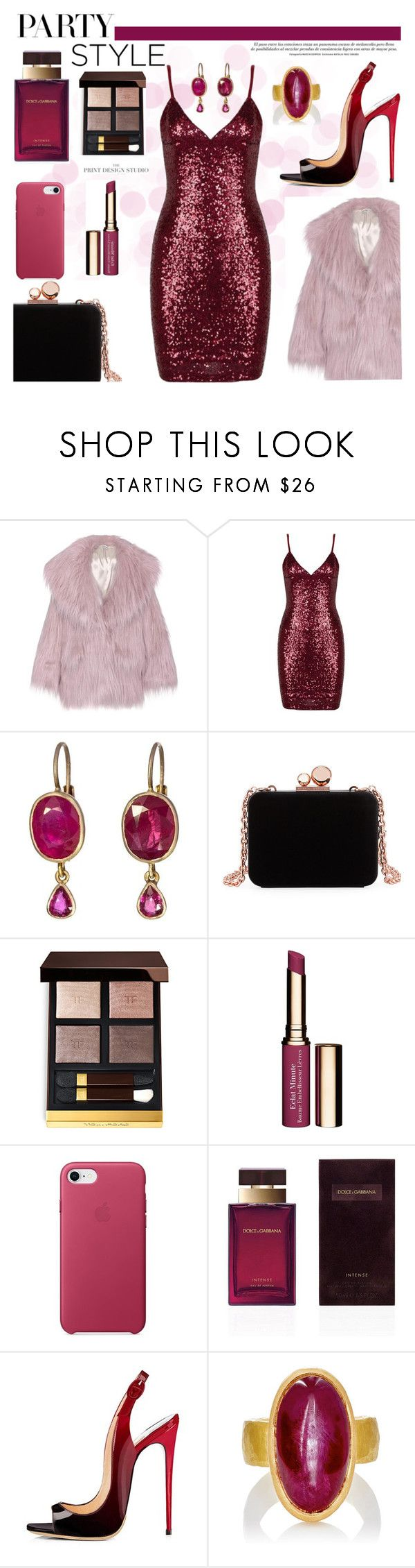 """""""Fashion & Decor  It's all about the fun"""" by efriersob ❤ liked on Polyvore featuring Miu Miu, Anaconda, Sophia Webster, Tom Ford, Clarins, Dolce&Gabbana and Malcolm Betts"""