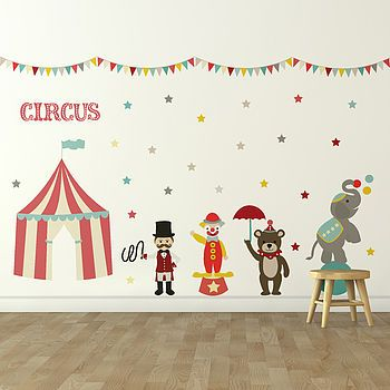 'Children's Circus' Wall Sticker Set