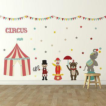 'Children's Circus' Wall Sticker Set
