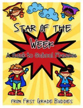 Star of the Week Packet FREEBIE