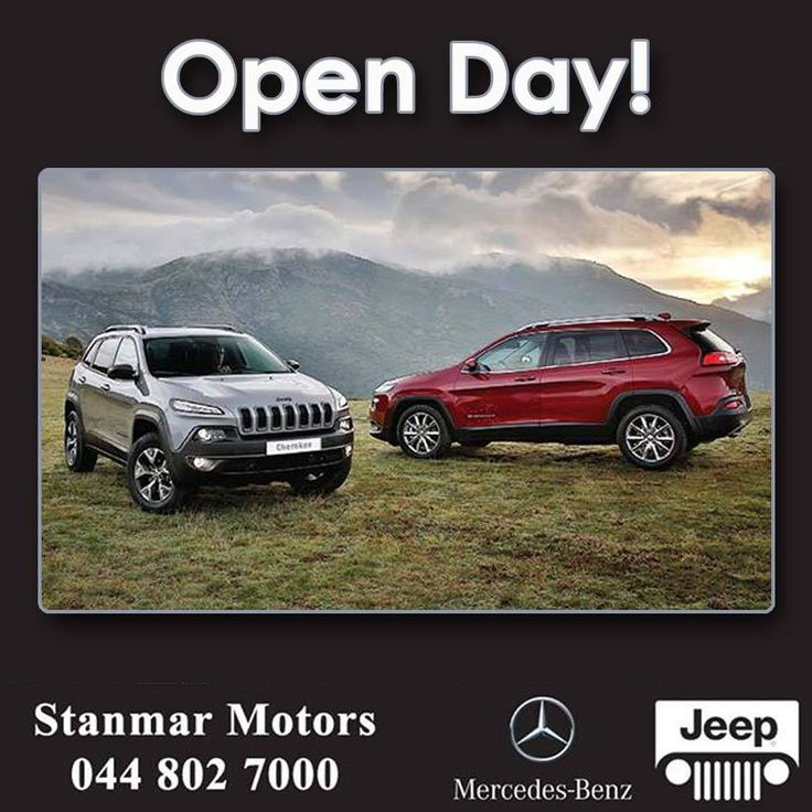 Open Day! A new adventure awaits you. You are invited to come and test-drive the all-new 2014 Jeep Cherokee at our dealership. Saturday 07 June 2014, 09:00 to 14:00 http://besociable.link/jq #jeep #teamstanmar #testdrive