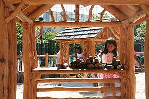Creative play with loose parts, Constitution Gardens, Gaithersburg