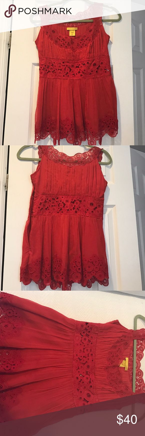 Catherine malandrino silk top Catherine Malandrino silk lace top with side zipper Catherine Malandrino Tops Blouses