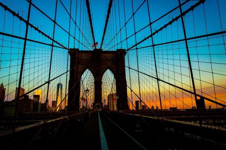 Sunrise on the Brooklyn Bridge
