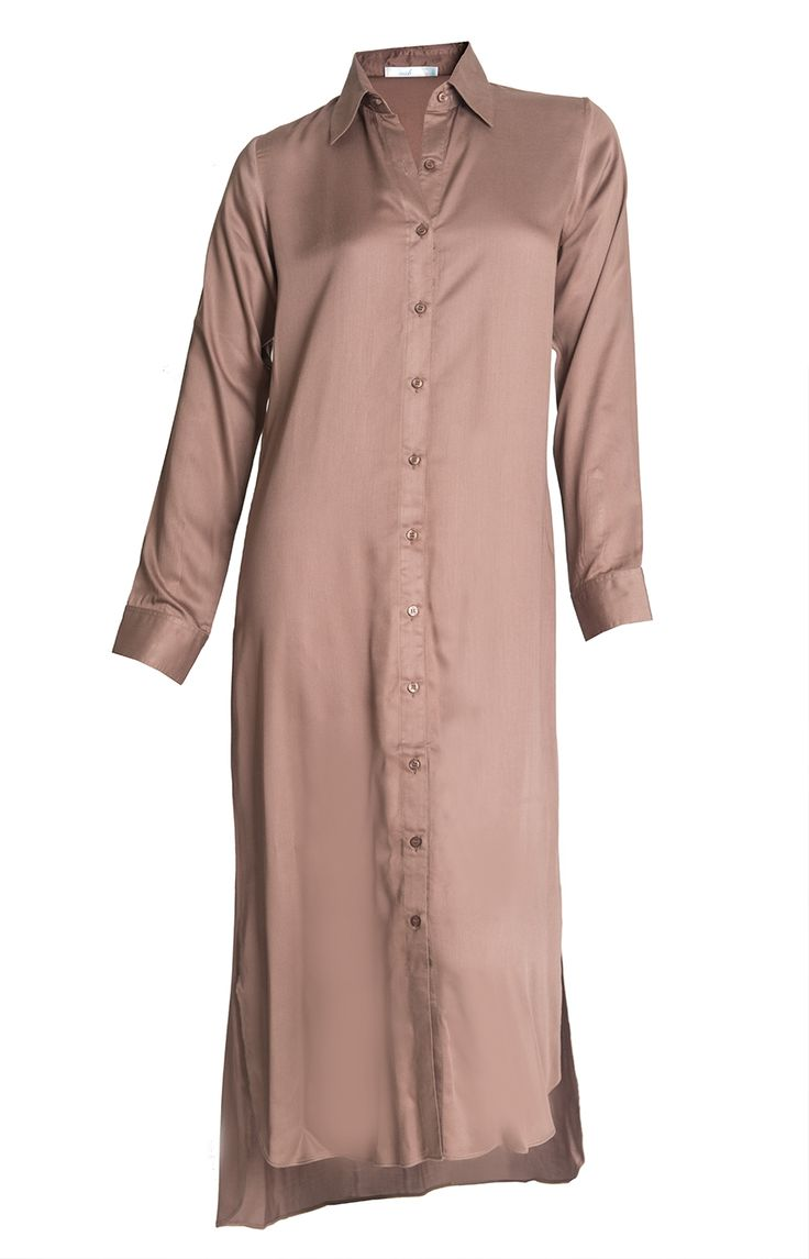 Aab UK Coffee Shirt Dress : Standard view