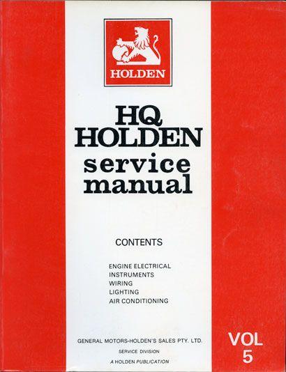 HQ Holden Service Manual - Volume 5