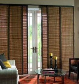 Bamboo Shades A Natural Setting Sliding Doors Patio