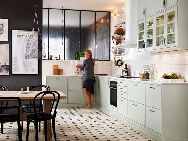 Stylish Mint Kitchen | NordicDesign