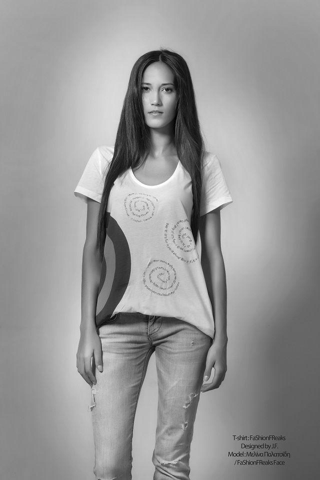 """FaShionFReaks Fights Breast Cancer""  T-shirt: FaShionFReaks (Designed by J.F.)  Model: Μελίνα Παλατσίδη /FaShionFReaks Face  Photographer: George-Kwnstantinos Malekakis Fashion editor: Sophia-Christina Raditsa (F*Team) MUA: Alexia Leousi (F*Team) Hair stylist: Faih Tsalta (F*Team)/Vassilis Saroglou (F*Team) Make up Products: Shojo Make up Production: FaShionFReaks.gr"