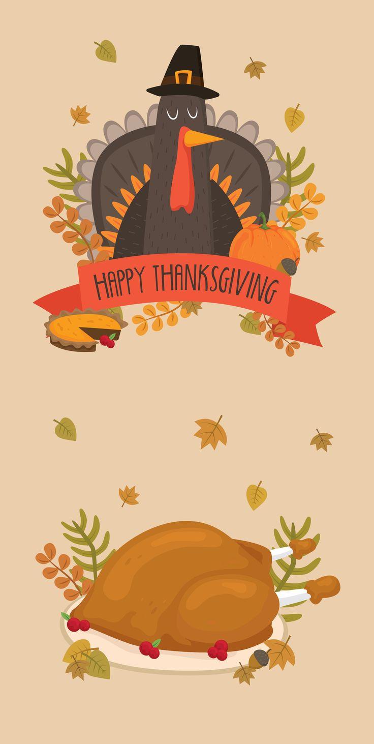 Ilustración del día de Acción de Gracias. Cenas con pavo y en familia #accion #gracias #acciondegracias #thanksgiving