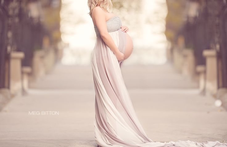 Roses And Ruffles — Jade Extra Long Maternity Gown - 3 Avail