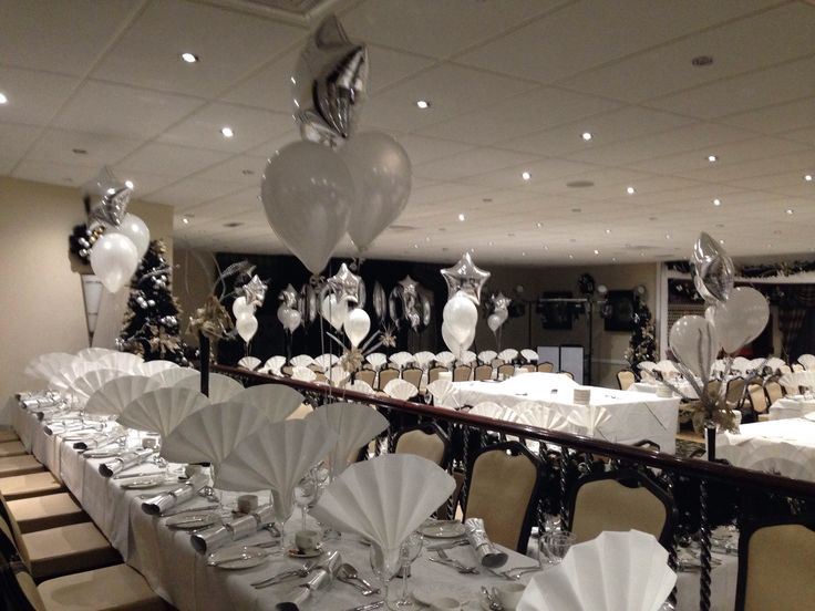 Silver themed with straight tables