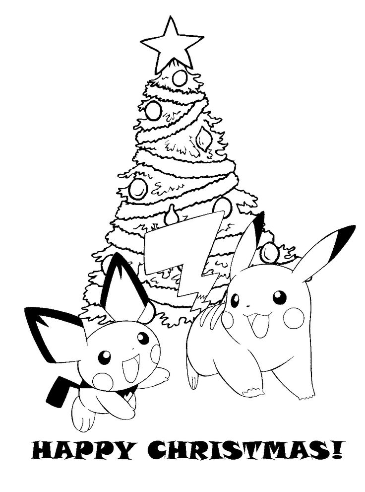 Printable Pokemon Christmas Coloring Pages