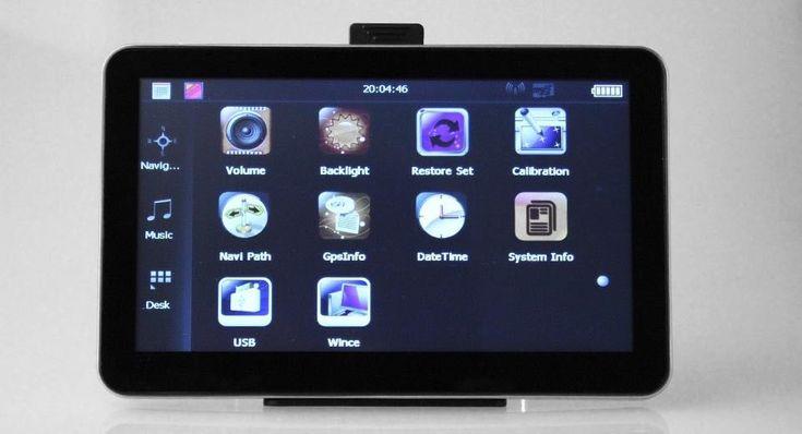 "5"" Resistive Touch Screen Windows CE 6.0 GPS Navigator w/ US  and Canada #Navigator"