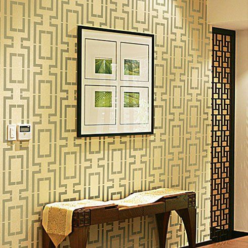 Cutting edge stencils connection allover stencil office for Free wall painting designs