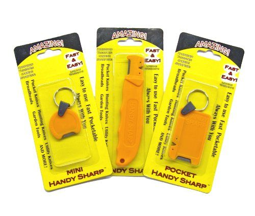 3 pc. Handy Sharp - Knife Sharpener - Fast, Easy, Pocketable, always with you for sale