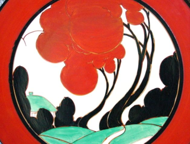 'Red Autumn' pattern 1930  -  Clarice Cliff